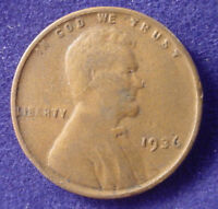 1936  P PHILADLEPHIA LINCOLN COPPER 1 ONE CENT WHEAT CENT PENNY LOWCOMBSHIP FR7
