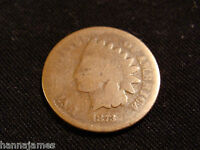 BETTER DATE 1873 OPEN 3 INDIAN CENT LOW COST AND LOW SHIPPING