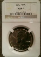 2 2012 KENNEDY HALF DOLLARS GRADED NGC P/D NICE MINT STATE