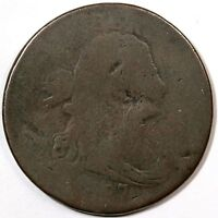 1797 S-121B R-3- REV OF '96 DRAPED BUST LARGE CENT COIN 1C