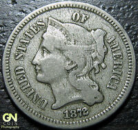 1872 3 THREE CENT NICKEL PIECE      MAKE US AN OFFER!  G4820