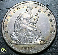 1877 S SEATED LIBERTY HALF DOLLAR      MAKE US AN OFFER!  W1957 ZXCV