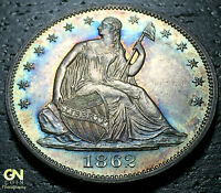 1862 P SEATED LIBERTY HALF DOLLAR WB101     MAKE US AN OFFER!  G4215