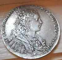 RUSSIAN IMPERIAL SILVER RUBLE 1728 PETER THE GREAT  COIN