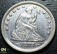 1873 ARROWS SEATED LIBERTY QUARTER      MAKE US AN OFFER!  G4234