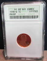 1998-S ANACS PF 68 HVY CAMEO LINCOLN CENT         1765