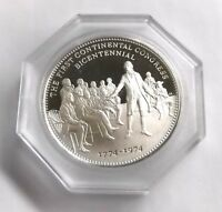 1774 1974 1ST CONTINENTAL CONGRESS COMMEMORATIVE PROOF STERLING SILVER COIN 925