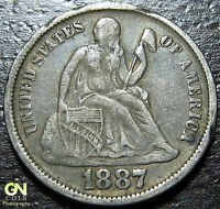 1887 SEATED DIME      MAKE US AN OFFER!  W2807  ZXCV