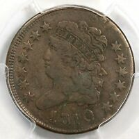 1810 PCGS VF 20 DOUBLE STRUCK 90 OC CLASSIC HEAD HALF CENT COIN 1/2C