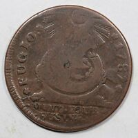 1787 N 22 M R 5 POINTED RAYS FUGIO COLONIAL COPPER COIN