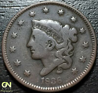 1836 CORONET HEAD LARGE CENT     MAKE US AN OFFER!  Y2381