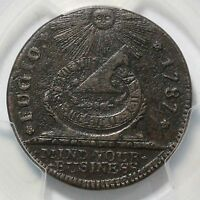 1787 N 12 KK PCGS XF DETAILS STATES UNITED 4 CINQ FUGIO COLONIAL COPPER COIN
