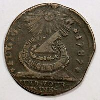 1787 N 15 Y BOTH STARS SHOW FUGIO COLONIAL COPPER COIN