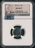 2013 D ROOSEVELT DIME NGC MAC MS68 FT PL FINEST REGISTRY
