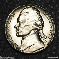 1958 D BU  5C JEFFERSON NICKEL