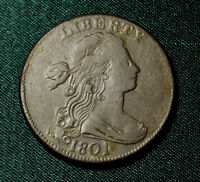 1801 DRAPED BUST  LARGE CENT 100/000 VARIETY NICE GRADE