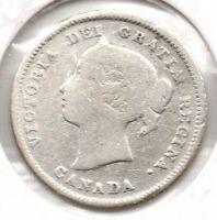 NICE EARLY YEAR 1888 CANADIAN 5 CENT PIECE GREAT COLLECTOR COIN BUY IT NOW