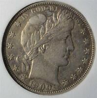 1900 O AU BARBER HALF DOLLAR  ABOUT UNCIRCULATED 90 SILVER SHIPS FREE 982