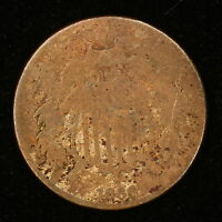 1866 2 CENT PIECE  WORN EXAMPLE COIN M3292