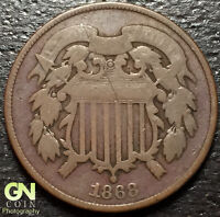 1868 2 CENT PIECE  --  MAKE US AN OFFER  O2071