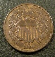 1866 TWO CENT PIECE SHIPS FREE AZ4COINS F303