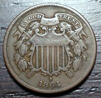 1864 2 CENT PIECE  --  MAKE US AN OFFER  Y1514