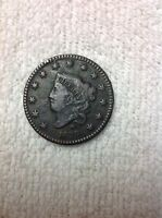 1829 LARGE CENT MATRON HEAD LARGE LETTERS EXTRA FINE COIN
