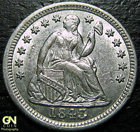 1843 P SEATED HALF DIME      MAKE US AN OFFER  G4350