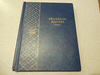 COMPLETE FRANKLIN HALVES 1948 1963 IN WHITMAN BOOK 35 SILVER COINS