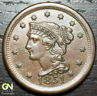 1851 BRAIDED HAIR LARGE CENT N6 R2     MAKE US AN OFFER  O2996