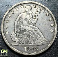 1842 P SEATED LIBERTY HALF DOLLAR      MAKE US AN OFFER  W3176 ZXCV