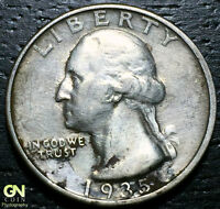 1935 D WASHINGTON QUARTER      MAKE US AN OFFER  G3650
