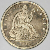 1845 O SEATED HALF DOLLAR   NICE FINE/VF PRICED FOR QUICK SALE