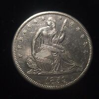 1859 S SEATED LIBERTY HALF DOLLAR 50C UNC UNCIRCULATED BU MS KEY DATE NO MOTTO