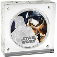 NIUE DISNEY STAR WARS $2 1 OZ SILVER COIN 2016 THE FORCE AWAKENS CAPTAIN PHASMA