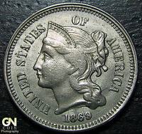 1869 3 CENT NICKEL PIECE      MAKE US AN OFFER  W3648 ZXCV