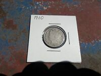 UNITED STATES 1910 US LIBERTY NICKEL V GOOD CONDIITION COIN MONEY