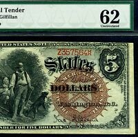 FR 70 1880 $5 LEGAL TENDER PMG UNCIRCULATED 62  BIG BROWN SPIKES  Z357564
