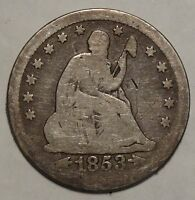 1853 SEATED LIBERTY QUARTER ARROWS & RAYS TYPE  0317 19