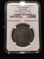 1807 DRAPED BUST HALF DOLLAR NGC VF  FINE OVERTON O VARIETY SILVER