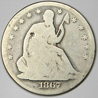 1867 SEATED HALF DOLLAR   NICE SOLD GOOD PRICED FOR FAST SALE