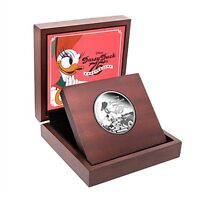 DISNEY  NIUE  $2 1 OZ. SILVER COIN 2015 MINT DAISY DUCK 75TH ANNIVERSARY QE II