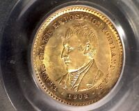 1904 PCGS MINT STATE 62 LEWIS AND CLARK GOLD $1