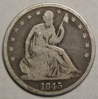 1845 O SEATED LIBERTY HALF DOLLAR BETTER DATE CIRCULATED COIN  1123 03