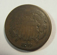 1870  2 CENT COIN  CONDITIONVG  MM1210
