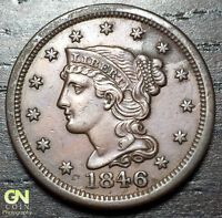 1846 BRAIDED HAIR LARGE CENT     MAKE US AN OFFER  O3192