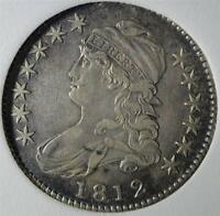 1812 CHOICE AU CAPPED BUST HALF DOLLAR ABOUT UNCIRCULATED 90 SILVER COIN