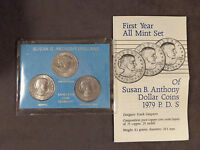 SUSAN B. ANTHONY DOLLAR COINS SET   FIRST YEAR ALL MINT P D S  UNCERTIFIED 1979