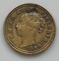 GREAT BRITAIN   MODEL QUARTER SOVEREIGN 1849  GW 551
