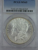 1883 MS65 BY PCGS MORGAN SILVER DOLLAR  BUSINESS SILVER  GEM